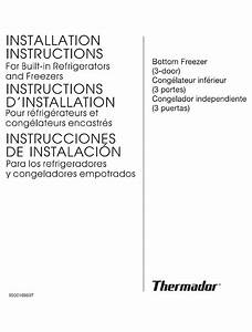 Thermador T36it70nnp  04 Installation Instructions Manual