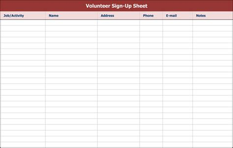 sign  sheet templates excel word