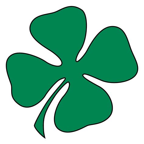 st pattys day clipart black background