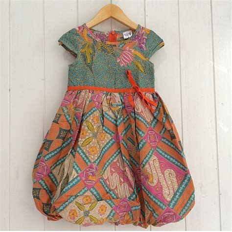model baju batik anak perempuan modern  terbaru