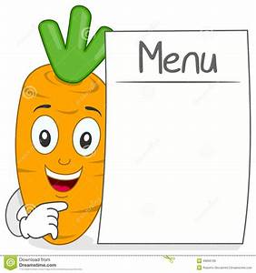 Cute Carrot Character With Blank Menu Stock Vector - Image ...
