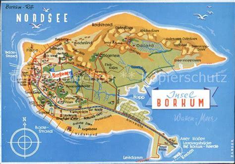 Borkum Strand Karte