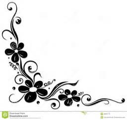 Classical Artwork by Gavinha Floral Flores Pretas Foto De Stock Imagem