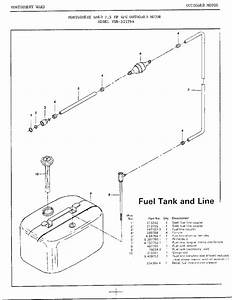 7 5hp Outboard Motor  Fuel Tank Line Diagram  U0026 Parts List