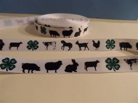 grosgrain ribbon   farm animals  horse goat chicken