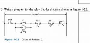 Write A Program For The Relay Ladder Diagram Shown