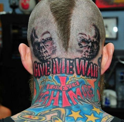 Chris Birdman Andersen Got A Crazy Head Tattoo Larry