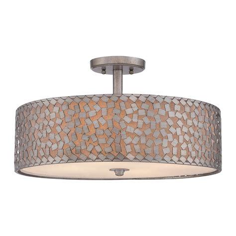 lowes semi flush mount ceiling light quoizel ckcf1720os confetti extra large semi flush mount