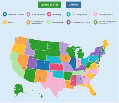 Canada Staten Verenigde Plekken Location Meeste Volgens