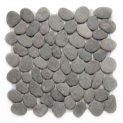 Tandus Flooring Pebble Mesh by Solistone River Rock Gray 12 In X 12 In X 12 7 Mm