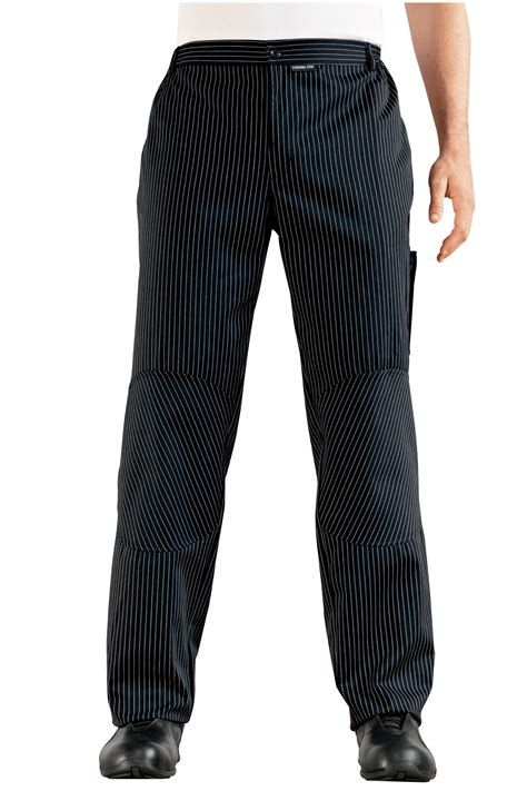 pantalon cuisine homme pantalon miami homme noir raye blanc