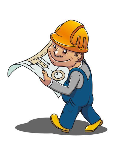 Funny Cartoon Builders Vector Illustration 01 Vector