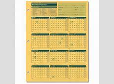 Yearly Attendance Calendars 2018 Printable Free Calendar