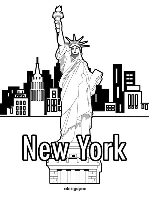 statue  liberty  york coloring page