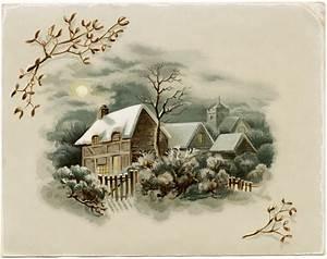 Winter Scene Victorian Card ~ Free Download - Old Design ...