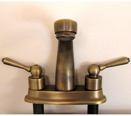 antique brass single slot bathroom vanity faucet