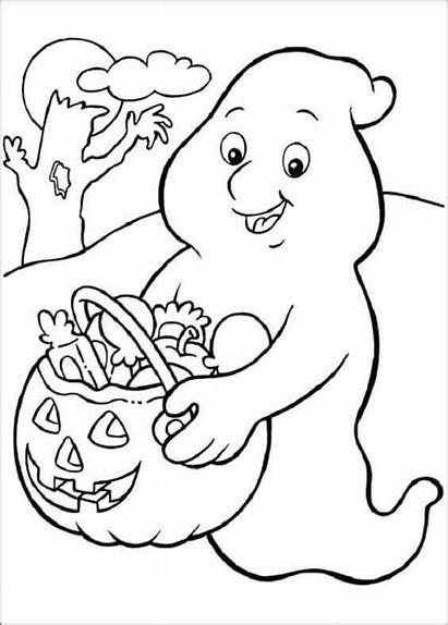 Halloween Coloring Pages Scribblefun Treating Casper Trick