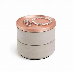 Boite à épices : boite bijoux b ton et zinc tesora par umbra design ~ Teatrodelosmanantiales.com Idées de Décoration
