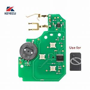 Keyecu Replacement Remote Board Car Key Fob 3 Button 433mhz Pcf7947 For Renault Megane Scenic