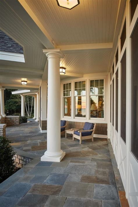 Porch Tiles by Classic Gambrel Style Shingle Home Home Bunch Interior