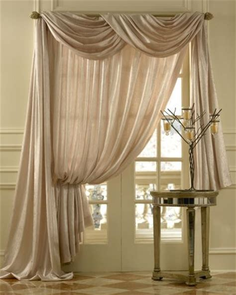 Vertical Striped Voile Curtains by Geneva Scroll Linen Scarf Swag Window Topper