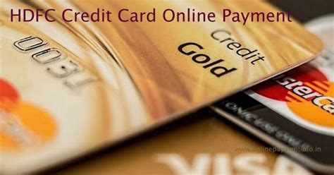 You can pay your credit card bill online through net banking, neft, through bill desk or even use a mobile wallet. HDFC Credit Card Payment Online