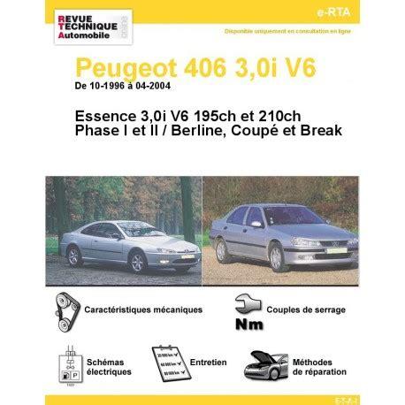 406 coupé v6 fiche technique revue technique peugeot 406 3 0i v6 rta site officiel etai