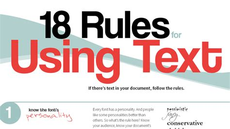 18 Rules For Using Text  Creative Bloq