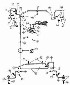 1991 Dodge Dakota Tee  Brake Tube  Front To Rear Brake