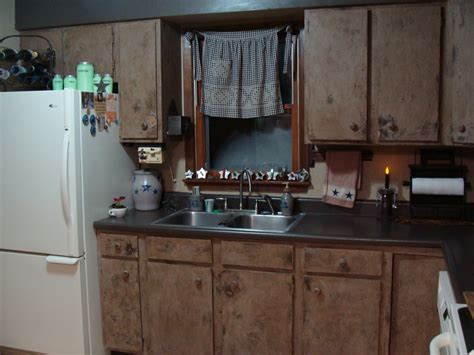roadtriptreasures finished primitive kitchen cabinets