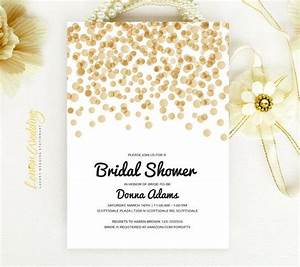 bridal shower invitation gold and black from lemonwedding on With black and gold wedding shower invitations