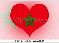 Illustrations de maroc, drapeau, coeur Morocco, Flag
