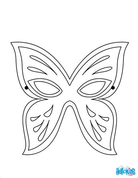 Coloring Mask by Butterfly Mask Coloring Pages Hellokids