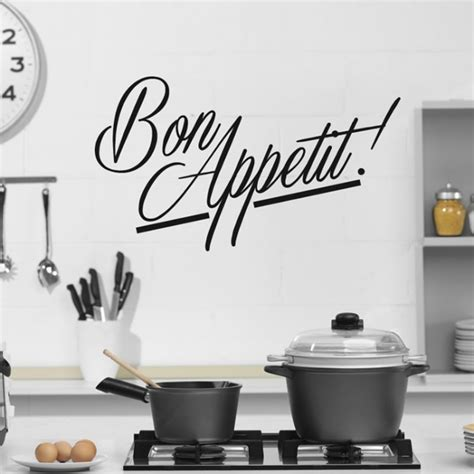 cuisine stickers bon appetit wall sticker kitchen quotes wall decal cafe