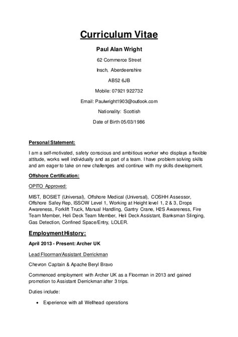 How To Right A Cv by Paul Wright Cv