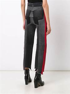 Lyst - Vetements Black Jeans With Red Stripes