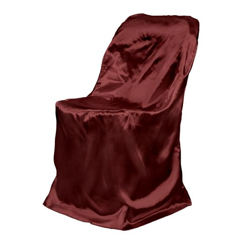 satin folding chair cover burgundy for weddings and