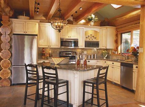log home kitchen islands 41 best modern log homes images on cottage 7156