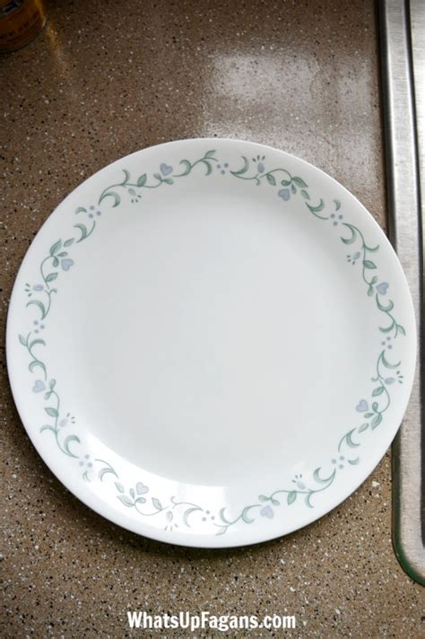 remove scratches  dinnerware tutorial