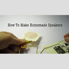 How To Make Homemade Speakers With A Magnet, Paper, And