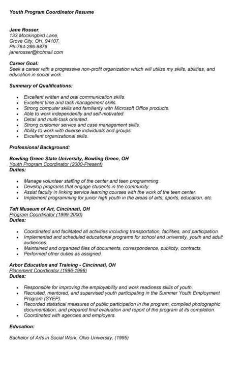 Youth Counselor Resume by Youth Counselor Resume Sle Resumes Design