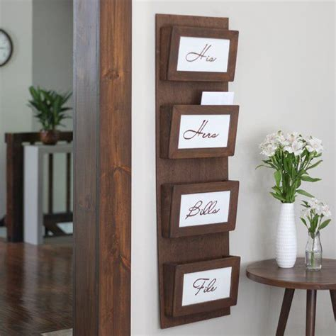 clear  clutter   simple diy mail sorting