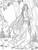 Coloring Fairy Pages Printable sketch template