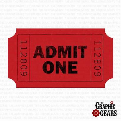 Ticket Admit Clip Stub Clipart Tickets Printable