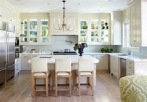 design ideas for white kitchens traditional home With kitchen colors with white cabinets with large reclaimed wood wall art