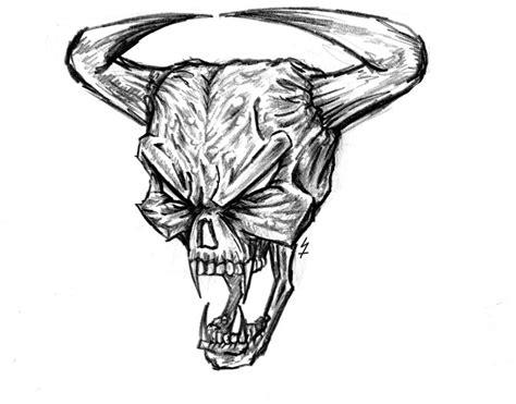 demon skull drawings google search   drawings