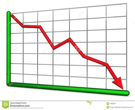 Chart Of Decline Stock Illustration Image Of Nobody