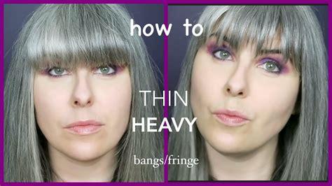 How To Thin Heavy Bangs