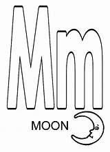 Letter Coloring Moon Pages Adults Detailed Colornimbus sketch template