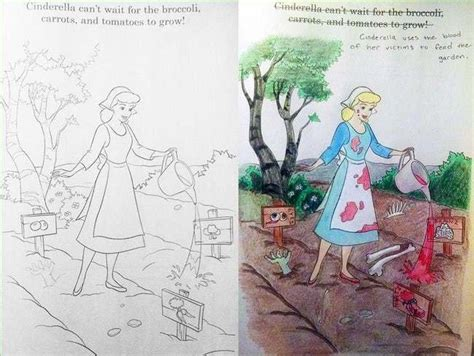 utterly twisted disney coloring book corruptions